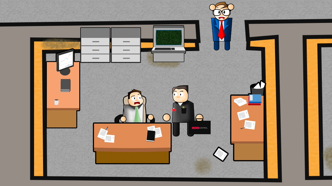 corporate animation video for Khaos control