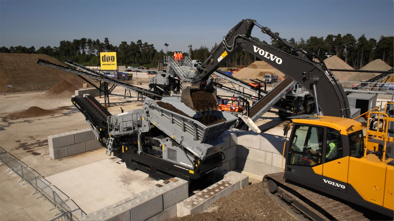 aerial filming DUO PLC terex washing systems