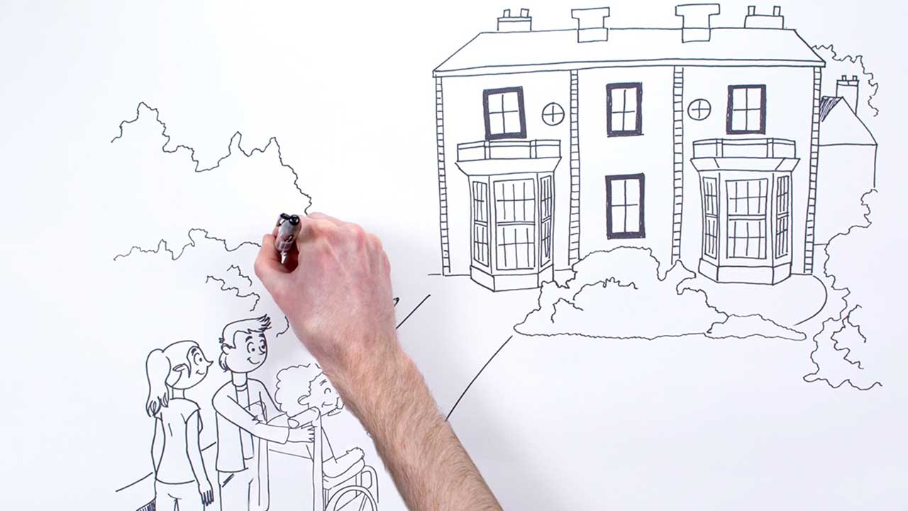 compton how to help the hospice whiteboard animation