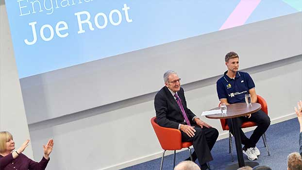 Joe Root at University of Wolverhampton